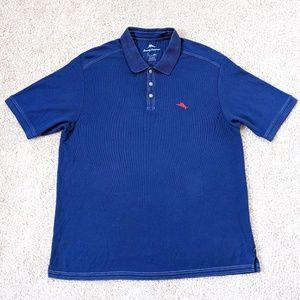 Tommy Bahama Supima Polo Shirt Men's XXL Blue